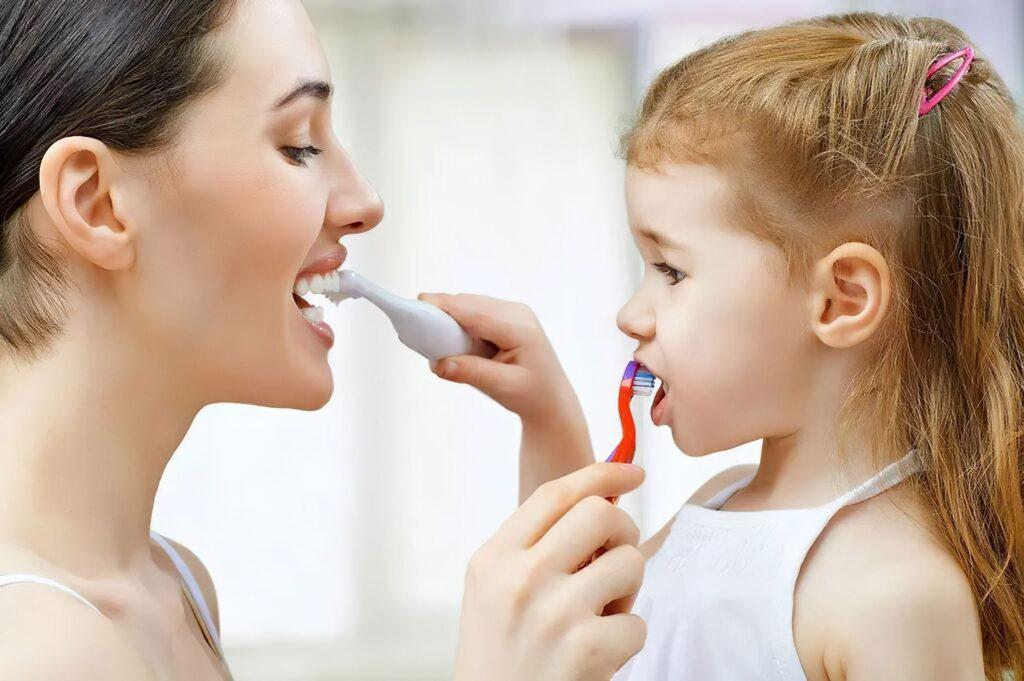 Taking care of children teeth- how to brush teeth